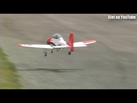 Scary maiden flight of an FMS Trojan RC plane