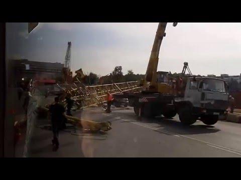 В Химках упал башенный кран — Российская газета