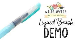Smoke Nails using Wildflowers Liquid Brush and Art Paints