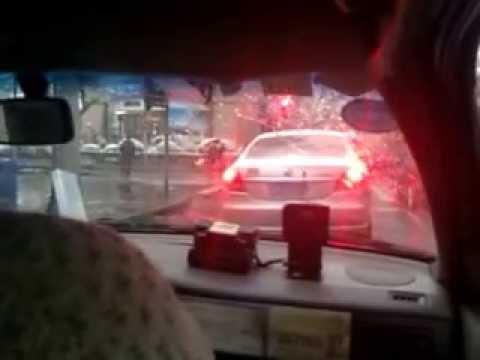 Terrifying taxi cab ride through Shanghai China