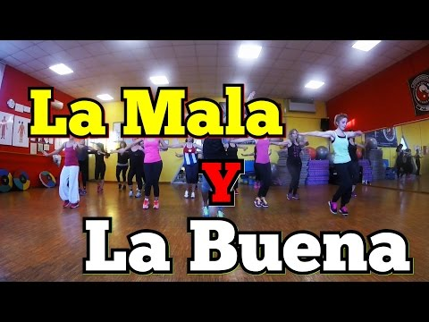 "Zumba Alex Sensation ""La Mala Y La Buena"" Ft. Gente de Zona (Lyrics)"