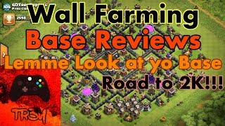 Wall Farming + Base Reviews//Interactive Streamer | Clash of Clans Livestream TH9 Account