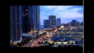 № 232  США Вечерний Sunny Isles Майами Вид с 17 этажа 02.08.2010