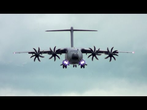 Tactical Short Landing C-17 vs A400M. What Brakes The Most. Reversers, Wheels, Props, Spoilers?