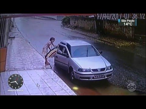 Polícia identifica suspeito de sequestrar menina de 12 anos no ES | SBT Notícias (01/11/17)
