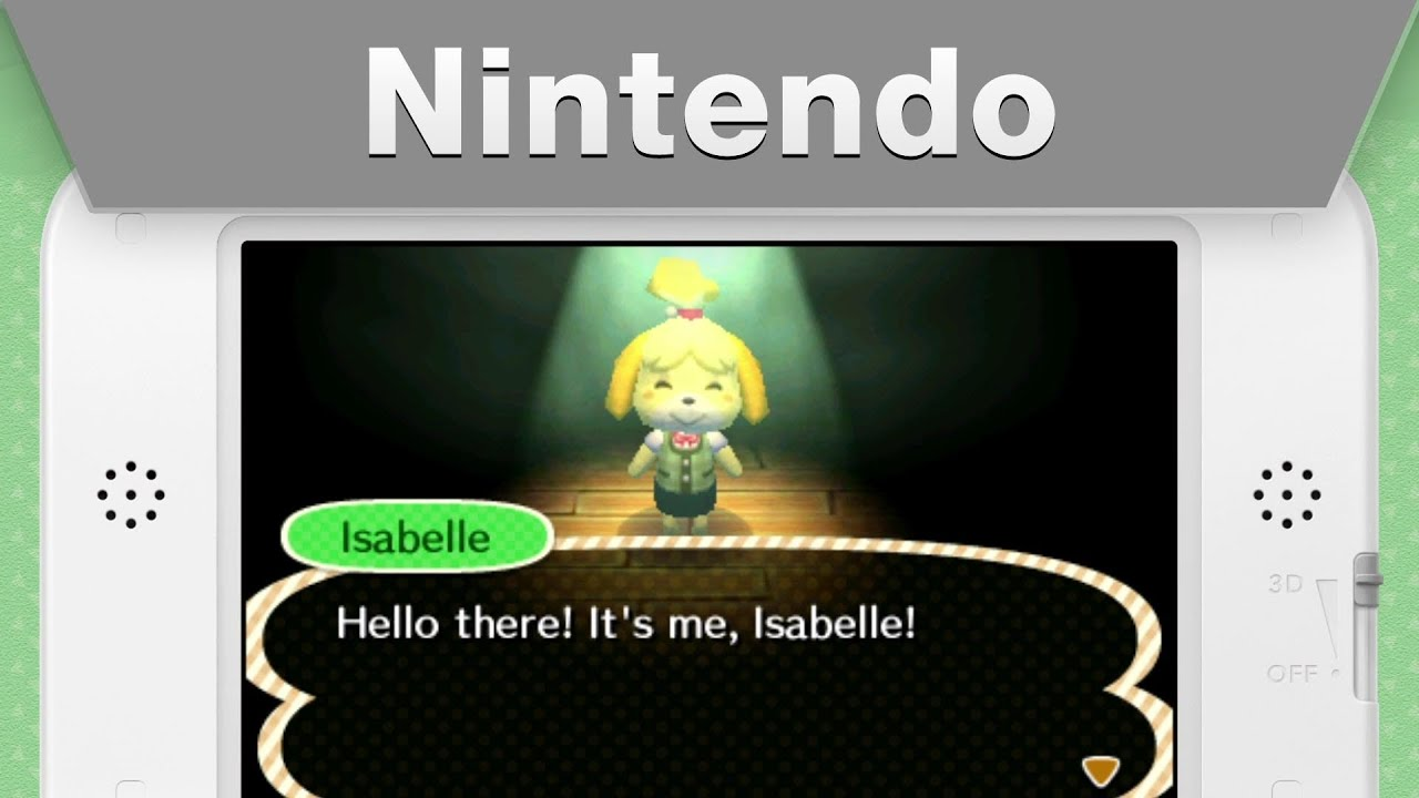Isabelle From Animal Crossing New Leaf Message Youtube