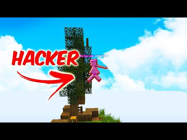 Trollím Hackera na Skyblocku!