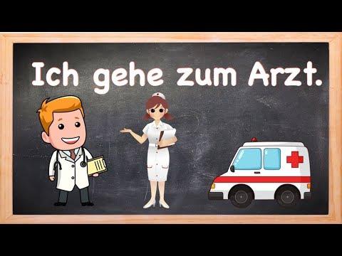 ประโยคพูดเมื่อต้องไปหาหมอ ปวดหัว ปวท้อง และอื่นๆ ภาษาเยอรมันพูดยังไง