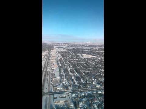Landing in Regina Saskatchewan -40 C