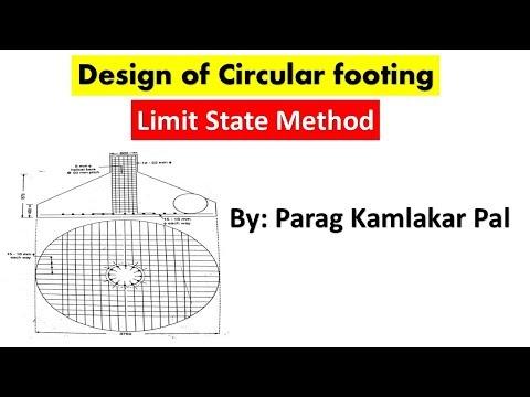Design of circular footing as per IS 456-2000