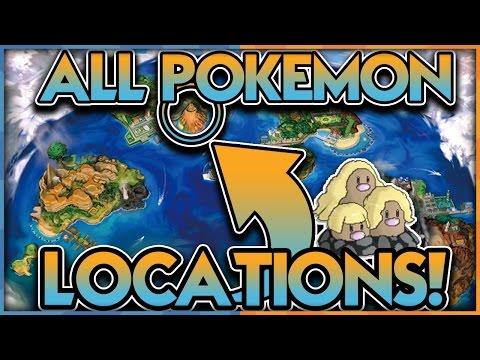ALL POKEMON LOCATIONS LEAKED in POKEMON SUN and POKEMON MOON!