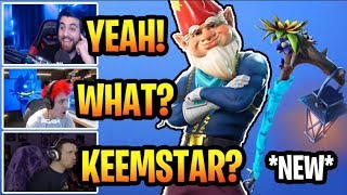 STREAMERS REACTS TO *NEW* GRIMBLES SKIN & COLD SNAP PICKAXE! FORTNITE BEST MOMENTS