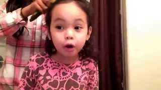 1 easy way to do a hairstyle on 3 year old