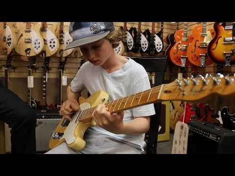 13-year-old Jaden Lehman back again playing our 1983 Fender Telecaster