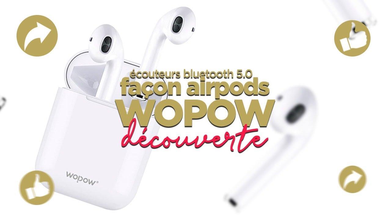 Écouteurs Bluetooth 5 0 Tactile TWS03 PLUS II Wopow Blanc