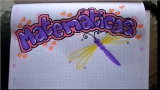 marcar un cuaderno de matemáticas para niña