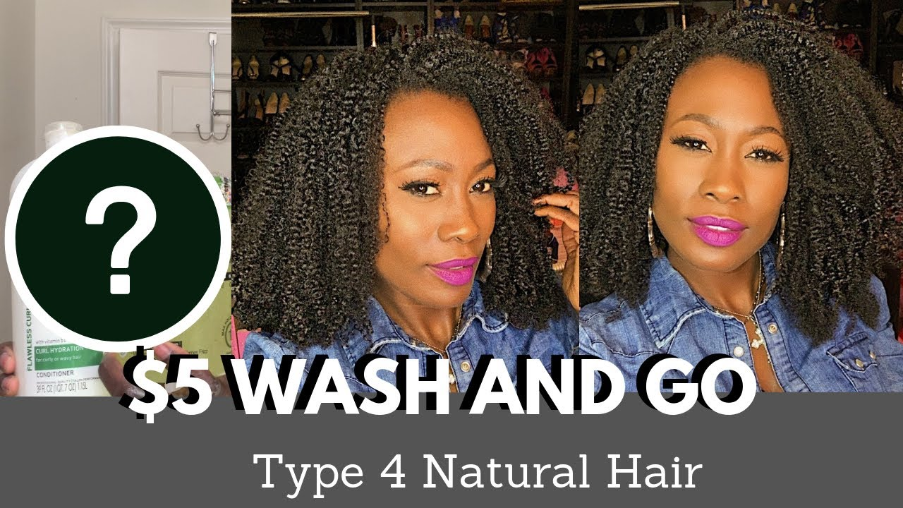 $5 Wash and Go | Type 4 Natural Hair