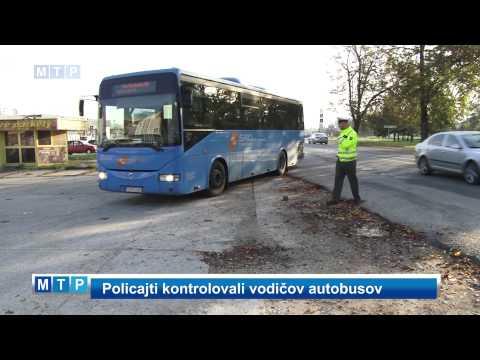 Policajti kontrolovali vodičov autobusov