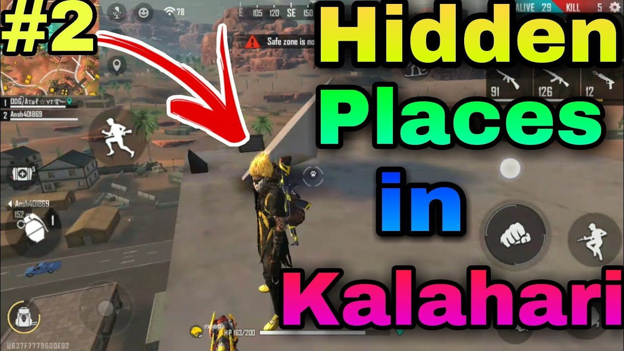 new hidden place in  Kalahari || best place for Kalahari map #2 | one day gaming