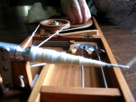 Bosworth charkha spinning video