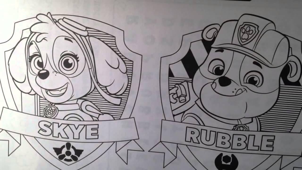 Paw Patrol Nickelodeon Giant Coloring Book Activity Set Youtube