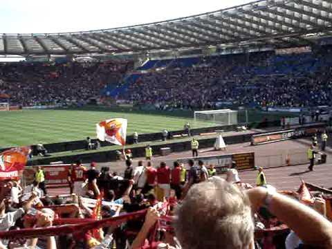 Roma Cagliari 2-1 - Grazie Roma + festeggiamenti a fine partita