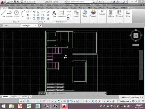 How to draw  plan civil AutoCAD tutorial