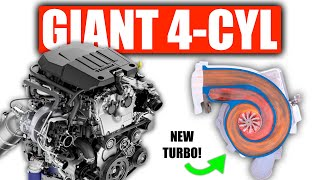 Cadillac's Giant 4-Cylinder Engine Has A New Dual Volute Turbo