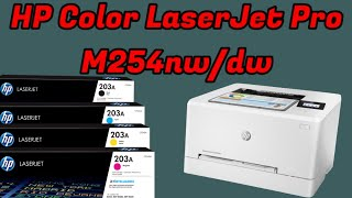 HP color LaserJet Printer M254 Unboxing & Review