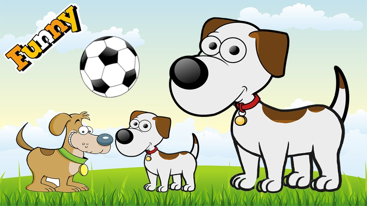 Image of: Pet Funny Dogs Cartoons For Children Funny Dog Video For Children Cute Dogs Playing Soccer Youtube Funny Dogs Cartoons For Children Funny Dog Video For Children
