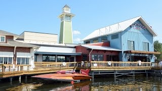 The BOATHOUSE at Disney Springs Full Tour Including FOOD, Dining Rooms, Amphicars, Boats - Downtown