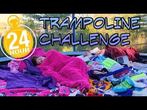 24 Hour OVERNIGHT Trampoline Challenge!