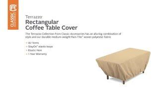 Classic Accessories Terrazzo Coffee Table Cover 59962 Sand
