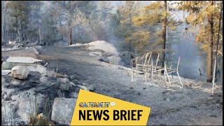 Wildfire destroys property