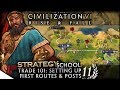 Trade 101: Setting Up First Routes & Posts | Civilization VI: Rise & Fall — Strategy School 11