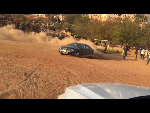 AUDI A7 drift by a college student  in hyderabad,INDIA.....best drift ever must watch