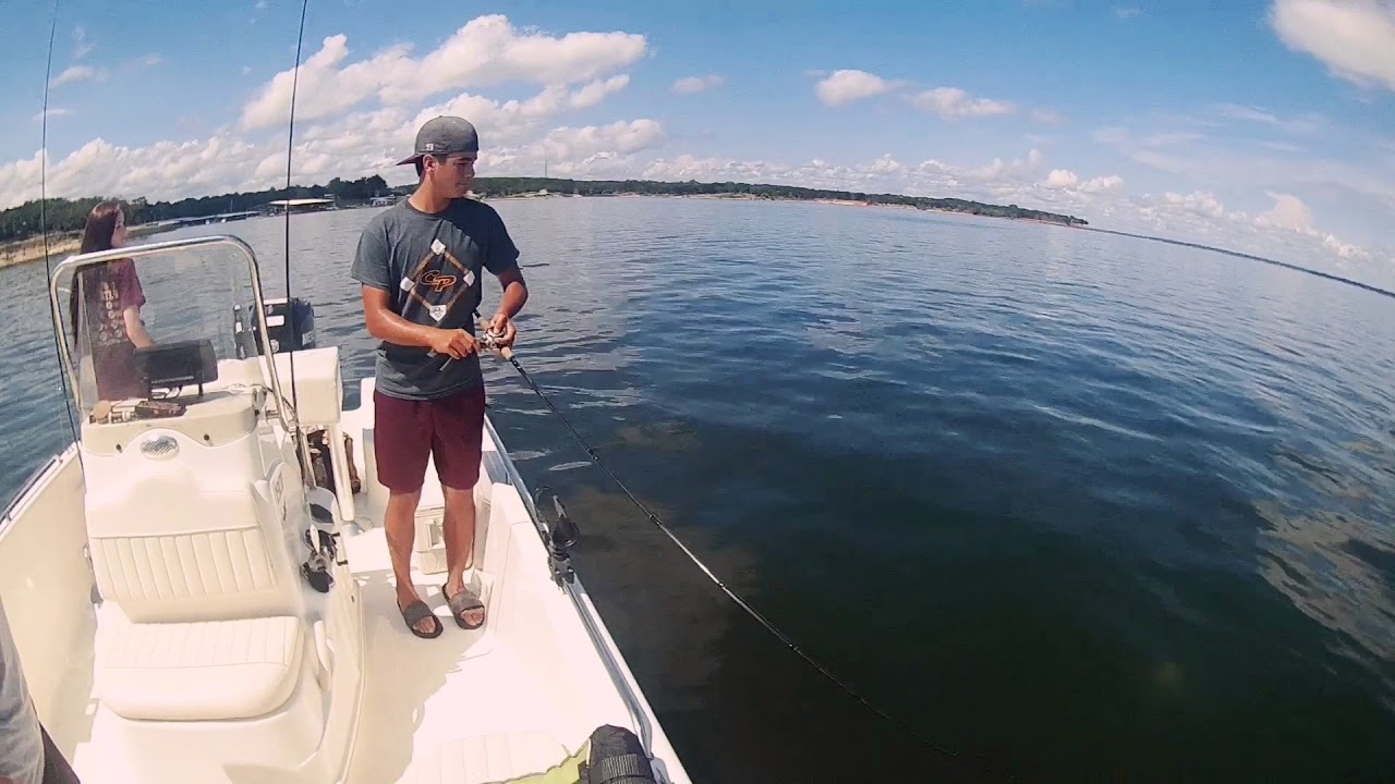Fishing for striped bass on lake texoma youtube for Texoma fishing license