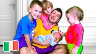 Cinque Bambini - Papà è rimasto solo con bambini - Video per bambini