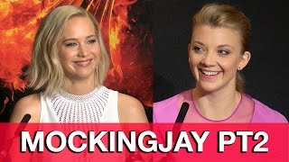 The Hunger Games Mockingjay Pt 2 Cast Interviews - Jennifer Lawrence, Natalie Dormer, Julianne Moore