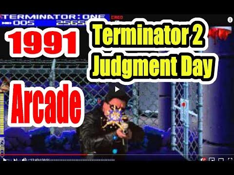 1991 Terminator 2 T2 Arcade Old School Game Playthrough Retro game