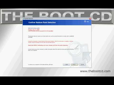 How To Do A System Restore By The Boot CD