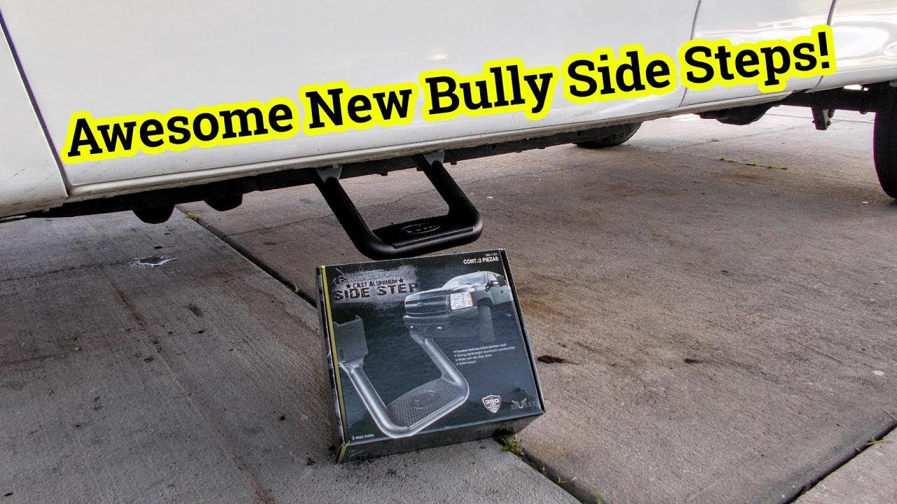 1 Pair Bully AS-600 Polished Aluminium Multi-Fit Truck SUV Side Steps