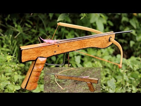 How to Make a  Mini Cross Bow at Home . | DIY |