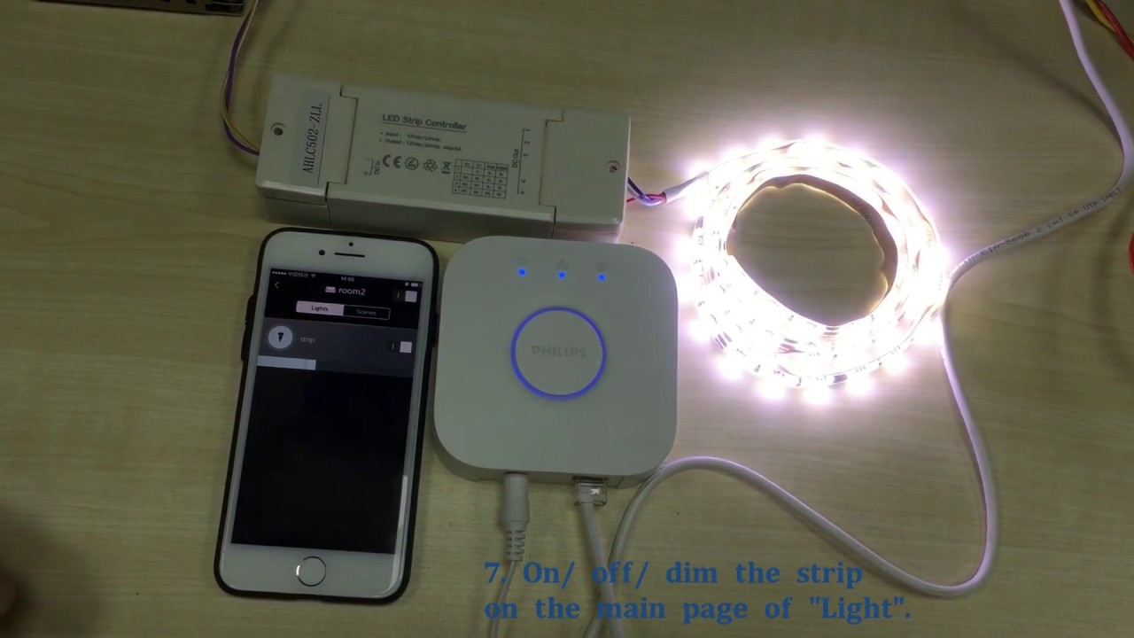 Philips Hue compatible ZLL LED strip controller - Amelech - YouTube