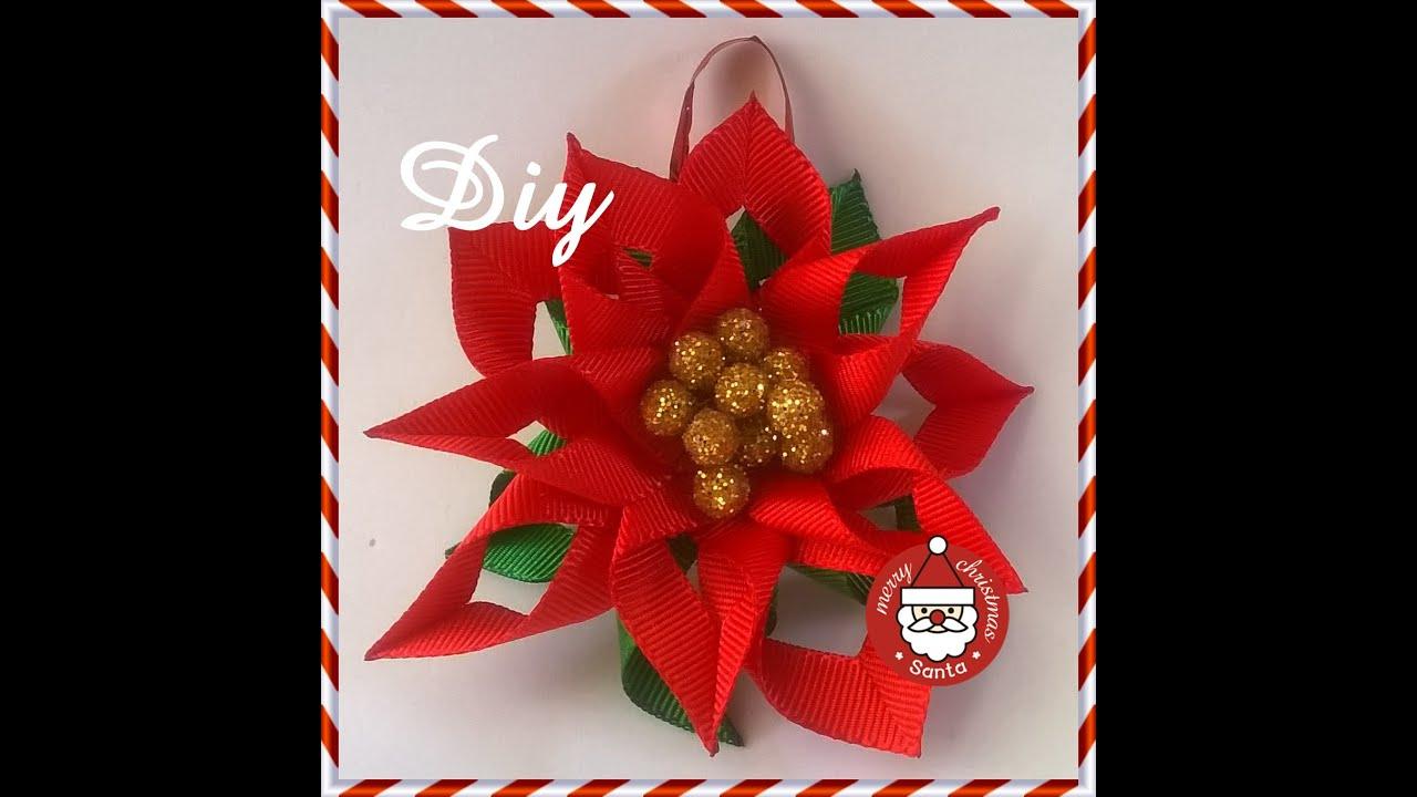 Flor de natal para decorar a ?rvore DIY \ Christmas flower ...