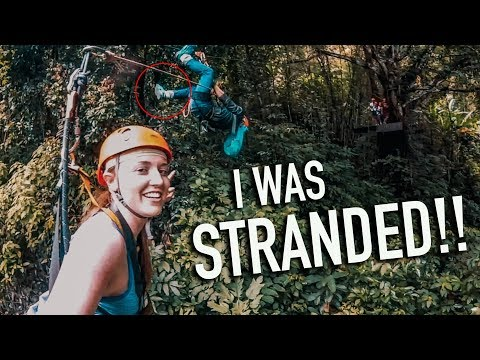 Girl RESCUED Ziplining In Thailand! Flight Of The Gibbon