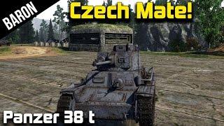 Czech Mate!  War Thunder Tanks Panzer 38t Gameplay 1.43