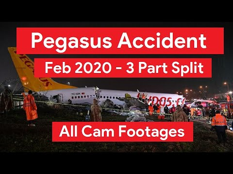 Pegasus Airlines Accident - Istanbul Airport - Plane Skids Off Runway - All Cam Footage -2020