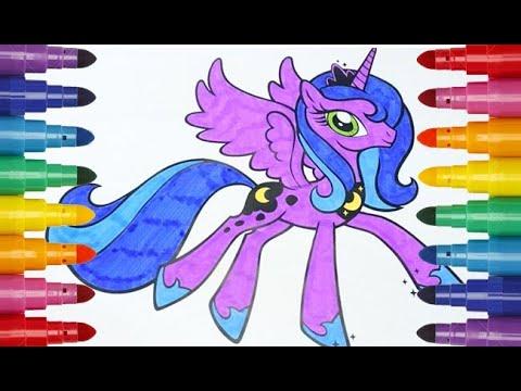 Coloring My Little Pony princess Luna Раскраска Мой ...