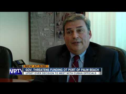 Gov. threatens funding of Port of Palm Beach